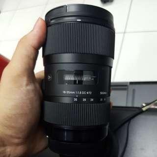 Sigma 18-35mm F1.8 like NEW