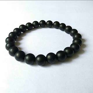 Bracelet $10 Unisex Matte Black Onyx Bracelet, Men Bracelets, Women Bracelet, Stone Bracelet, Gift For Men And Women Bracelets