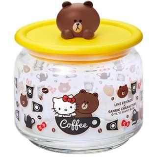 7-11 Line friends Sanrio 樽樽滿 Joy 玻璃樽 D (Brown咖啡玻璃樽)