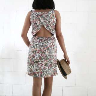 Sexy Back Summer Floral Dress