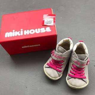 Authentic Mikihouse baby girl sneaker