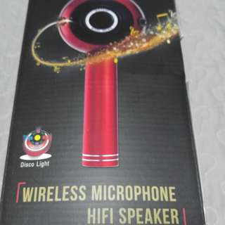 Wster wireless microphone with build in hifi speaker