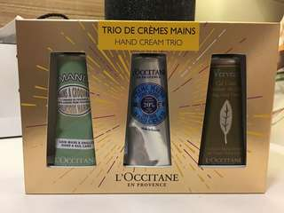 L'occitane Hand Cream Trio gift set