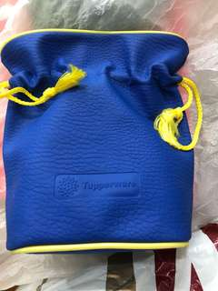 Tupperware drawstring bag