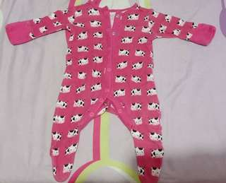 Mothercare Pink cow onesies