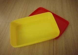 Yellow red container