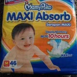 Mamypoko Maxi Absorb Diaper Size M 43/46pcs