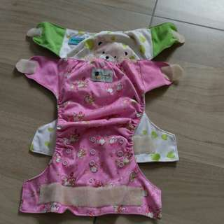 Adjustable and washable Cloth diapers