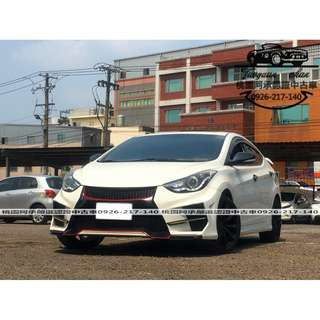 【FB搜尋桃園阿承】現代 超人氣ELANTRA 2013年 1.8 白色 二手車 中古車