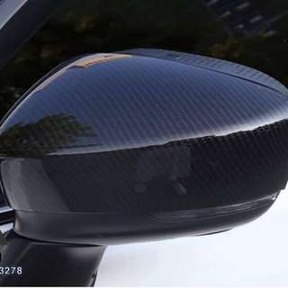 Mazda 3 Side Mirror Cover Carbon Fiber Design