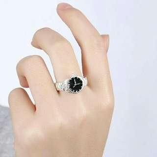 Jam tangan cincin berlapis perak