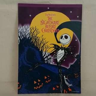 怪誕城之夜 NOTEPAD TIM BURTON'S THE NIGHTMARE BEFORE CHRISTMAS