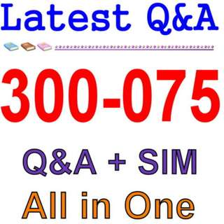 Cisco Best Practice Material For 300-075 Exam Q&A PDF+SIM