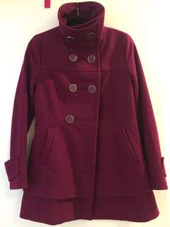Kenneth Cole aubergine coat size 8-10