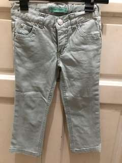 Light Green Glittery Jeans