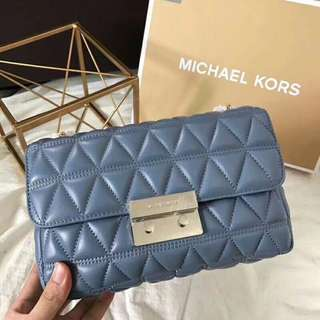Michael Kors quilted sloan edition Bag Blue