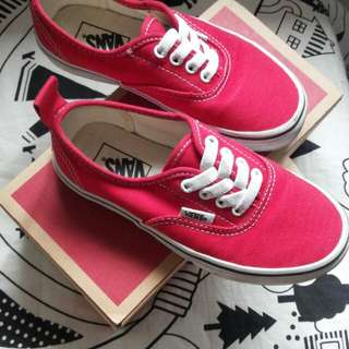 Vans Preloved Shoe In Red, Hardly Used. My Boy Cant Fit Animore.