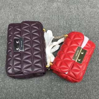 Michael Kors quilted sloan edition Bag Red / Violet