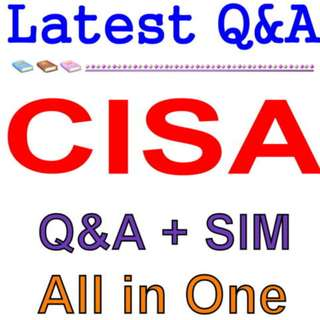 ISACA Certified Information Systems Auditor CISA Exam Q&A PDF+SIM