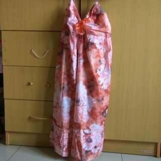 Preloved mini dress warna salem