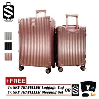 SKY TRAVELLER SKY289 Premium 2-In-1 Esquisite Classical Luggage Set With 8 Wheels (20Inch+24Inch)