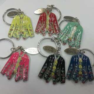 Kebaya metal keychains 6pcs for rm24 NEW