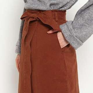 🚚 日本 🇯🇵 巧克力色小腿裙