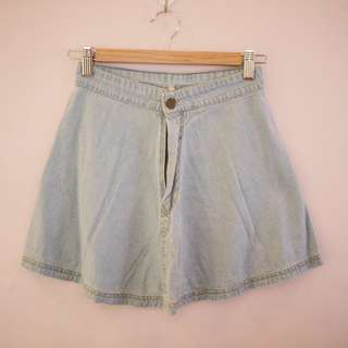 Light Denim Skater Skirt