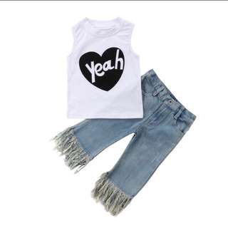 Yeah Top and Tassel Jeans