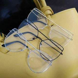 Premium Fun Metal Frame Clear Glasses