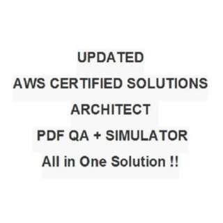 Amazon AWS Certified Solutions Architect Associate Exam Test QA PDF&Simulator