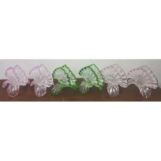 6 pieces Retro Vintage Glass Napkin serviette holders