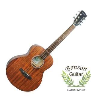 🚚 Benson BGS-PM 民謠旅行吉他 38吋全桃花心木 附原廠品牌吉他袋 附贈一包全新弦 移調夾