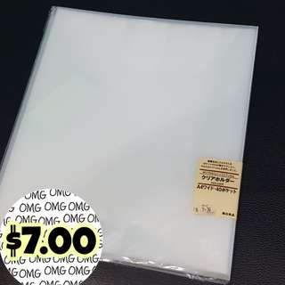 📮Free NORMAL postage 💯Brand New Muji Clear Folder