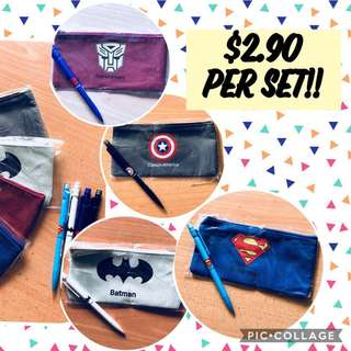 Avengers / Super Hero Mechanical pencil with pencil case- goodie bag