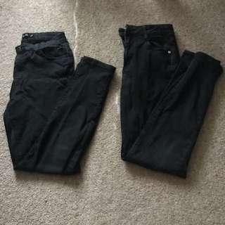 2x black jeans
