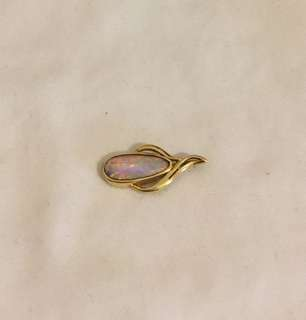 18ct gold genuine Coober Pedy opal pendant