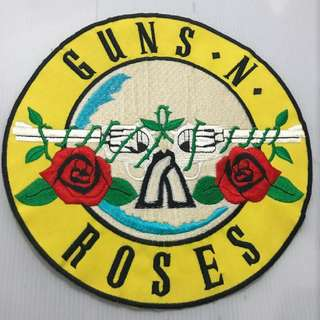 Very rare authentic super huge made in Japan Guns N Roses iron/sew on vintage collectors or jacket patch ,about 22 to 25cm