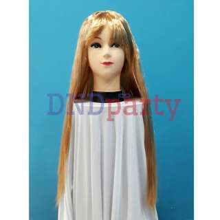 Long Straight Blonde Wig
