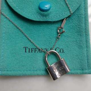 Tiffany 1837 鎖型頸鏈 Pad Lock Pendant Authentic
