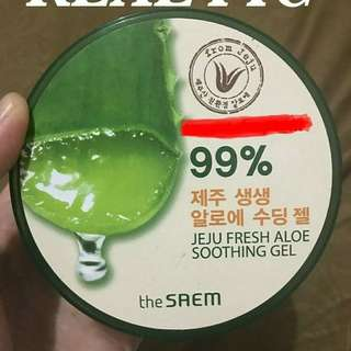 Aloe Soothing Gel 99% The Saem From Jeju Ori Korea Brand