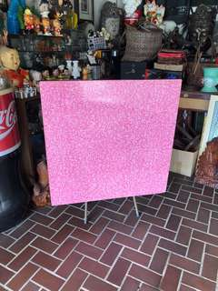 Rare! Foldable teak pink Formica table