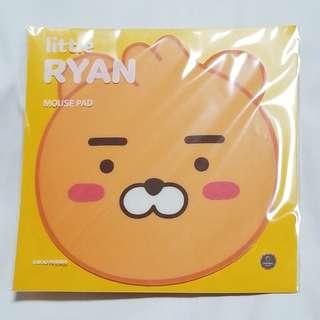 *KAKAO FRIENDS - (Little Ryan mouse pad) 100% New 韓國帶回 售價HKD128 一張 ST-5
