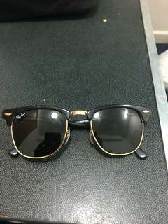 Authentic ray ban clubmasters