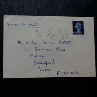 [lapyip1230] 大英帝國駐新嘉坡皇家空軍軍郵 1970年