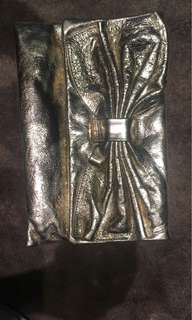Red Valentino bow Crossbody clutch bag on good with gold hardware