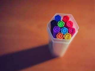 Muji Hexagon 10 Markers Set
