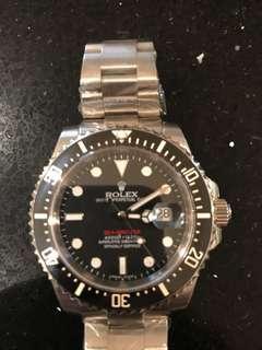 Rolex sea dweller red watch