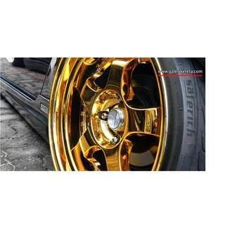 15 inch SPORT RIM WORK MEISTER S1 SUPER GOLD CHROME