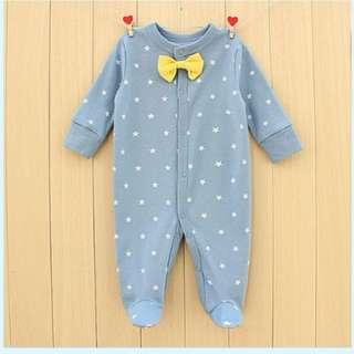 Baby Boy Star Footed Pyjamas